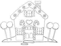 Gingerbread House Coloring Page Big Template Printable Pdf Paper Large Size