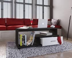 vcm couchtisch sofatisch wohnzimmertisch schublade wohnzimmer tisch beistelltisch rilos holz couchtisch rilos mit schublade farbe schwarz
