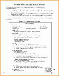 High School Resume For College From Best Template Graduate