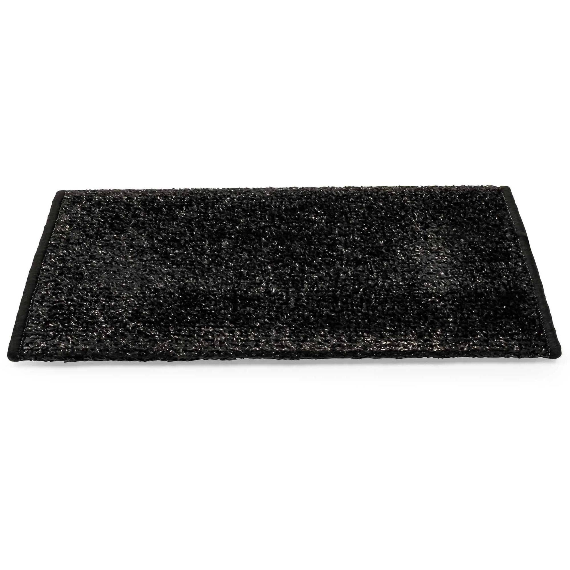Camco 42915 Premium Wrap Around RV Step Rug, Turf Material (17.5 inch x 18 inch), Black