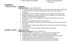 Unforgettable Babysitter Resume Examples To Stand Out ... Babysitter Letter Of Recommendation Cover Resume Sample Tips On Bio Skills Experience Baby Sitter Babysitting Examples Best Nanny Luxury 9 Babysitting Rumes Examples Proposal On Beautiful Templates Application Childcare Samples Velvet Jobs 11 Template Ideas Resume 10 For Childcare Workers We Provide You The Best Essay Craigslist Objective