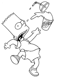Bart Simpson Coloring Page