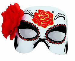 Halloween Half Masks by Amazon Com Day Of The Dead Half Mask Clothing