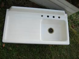 Old Kitchen Sinks With Drainboards by Best Cast Iron Kitchen Sink With Drainboard Gallery Home Design