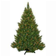 Shop 45 Ft Pre Lit Fir Artificial Christmas Tree With Multicolor Incandescent Lights