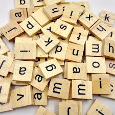 100pcs wooden scrabble tiles black letters numbers for crafts wood