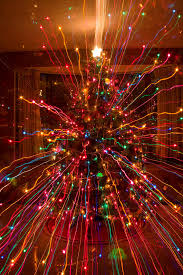 Crazy Fun Christmas Tree Lights Abstract Print Photograph By James