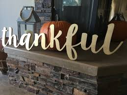 Thankful Wooden Word Wood Cut Out Letters