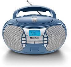 rr 5025 c tragbares cd radio cd player boomboxen ukw radio batterie netzbetrieb aux in blau