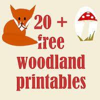 20 Free Woodland Printables