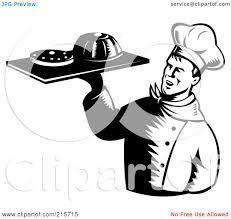 Serving clipart black and white