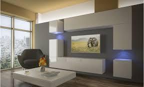 wohnzimmer set 8 einzelteile anbauwand wohnwand wohnwände schrankwand modernes wohnzimmer neu prag nx 5 weiß hochglanz