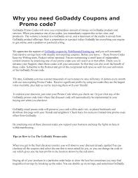 Calaméo - Why You Need Go Daddy Coupons And Promo Code Godaddy Coupon Code Promo 2019 New 1mo Deal Transfer Your Us Domain To For Only 099 Codes Hosting 99 Coupons Renewal Latest Black Friday Cyber Monday Deals Save 75 Buy Domain Name Godaddy Rs125 Flat Off Kevin Derycke Vinmakemoney On Pinterest How Use Updated Promo Code Domahosting By Webber Alex Issuu Get Com Name In Just Rupees Offer April Godaddy