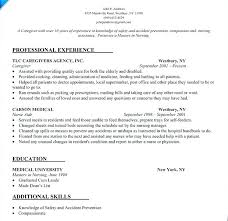 Sample Resume For Caregiver Suited Design Cad