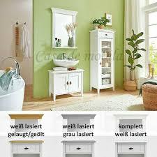 massivholz badmöbel set komplett 3teilig kiefer massiv weiß neu badezimmer möbel ebay