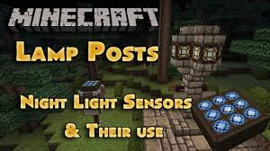 Minecraft Glowstone Lamp Post by Lamp Posts Inverted Daylight Sensor Minecraft 1 8 Snapshot