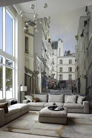 simple paris themed living room decor 49