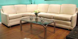 Grey Brown And Turquoise Living Room by Furniture Sutton Sectional Sofa With Half Tufted Back Rest And