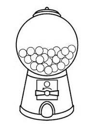 kindergarten coloring worksheets color the gumball machine