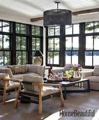 100 Lake Cottage Interior Design Home Tour Anne Hepfers Rustic Modern House Living Room