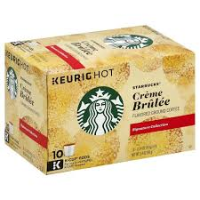 Starbucks Keurig Hot Signature Collection Coffee Ground Creme Brulee Flavored K Cup