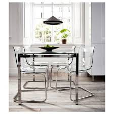 Dining Room Chairs Ikea by Best 25 Ikea Glass Dining Table Ideas On Pinterest Ikea Dining