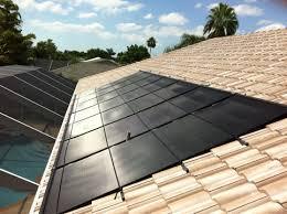 solar pool heating panels on barrel tile tile roof solar