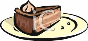 A Slice Chocolate Cake Royalty Free Clipart Picture