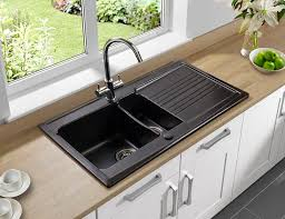 double kitchen sink ceramic with drainboard equinox 1 5b