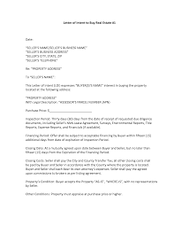 Best s of Letter Intent Property Letter of Intent Template