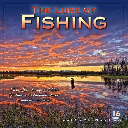 Sellers Publishing Lure of Fishing 2019 Wall Calendar
