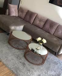 sofa in grau rosa kombination
