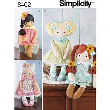Simplicity Ragdoll And Clothes Sewing Pattern 8402 Hobbycraft