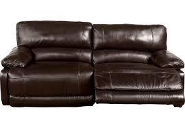 Cindy Crawford Home Auburn Hills Brown Leather Reclining Sofa
