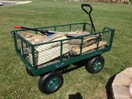 Garden Cart Home Depot Sandusky 53 In W 65 Cu Ft Yard Garden Cart