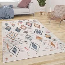 teppich wohnzimmer boho skandi muster modern
