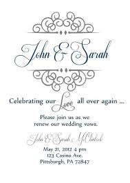 Vow Renewal Invite Simple Yet Elegant Since We Didnt Have A Wedding