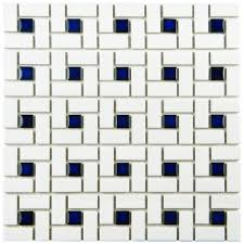 merola tile spiral blue and white 12 1 2 in x 12 1 2 in x 6 mm