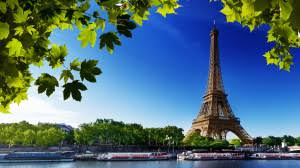 Preview Wallpaper Paris Eiffel Tower France River Beach Trees 1920x1080