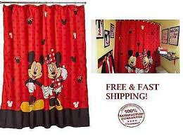 Mickey And Minnie Mouse Bath Decor by Mickey Minnie Mouse Fabric Shower Curtain Bathroom Fun Disney Kids