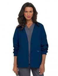 Ceil Blue Print Scrub Jackets by Landau Scrubs Tafford Uniforms