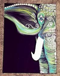 Turquoise Bohemian Elephant Giraffe PaintingElephant PaintingsDiy Paintings On CanvasPainting