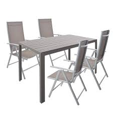 Amazon.com : KARMAS PRODUCT 5 Piece Aluminum Patio Dining Set, 1 ... Beach Wood Ding Table 6 Chairs In Canterbury Kent Gumtree Canopy Marri Fine Fniture Design Art The Coastal View Decor And Style Rources For My Room Smart White Glass With Metal Leg Round And Chair Unique Kitchen Decorsbyte Beachy Ideas Bar Lunchroom Also Fabulous Office Gorgeous Excellent Modern Fabric Sectional Living Lovable Blue Trends Charming Ausgezeichnet Casual Centerpieces Farmhouse