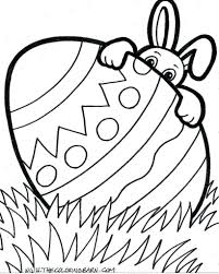 Easter Bunny Coloring Pages For Toddlers Printable Eggs Full Size