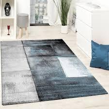 designer teppich wohnzimmer teppiche kurzflor meliert türkis