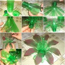 Creative Plastic Bottle Flower Craft Crafts Flowers Step By