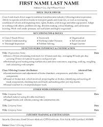 Free Resume Examples For Truck Drivers Together With Driver Format Template Sample 8 To
