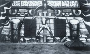 David Alfaro Siqueiros Mural Olvera Street by Restoration Of Paintings And Art Conservation In Our Lab America