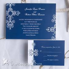 Mordern Blue Wedding Invitation IWI082