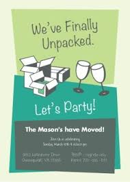 Unpacked Housewarming Party Invitation Invitations Card